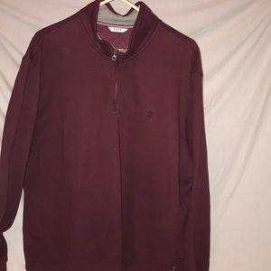 IZOD partial zip up sweater